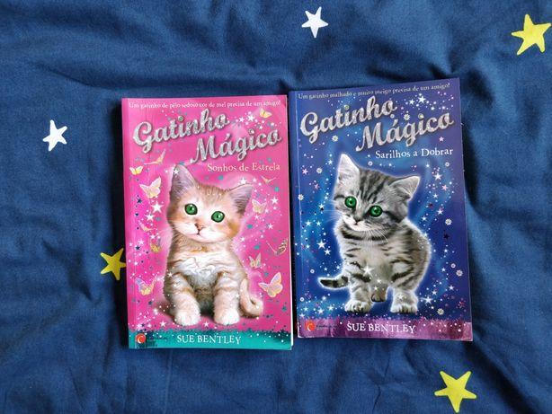 """2 Livros """"Gatinho Mágico"""""""