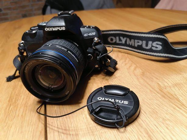 Lustrzanka cyfrowa Olympus E420+dwa obiektywy.