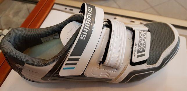 Buty damskie SPD-SHIMANO SW-WM53 ,białe , nowe