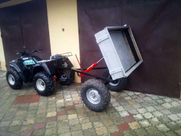 przyczepa do traktorek kosiarka  quad 4x4 kiper wywrotka.
