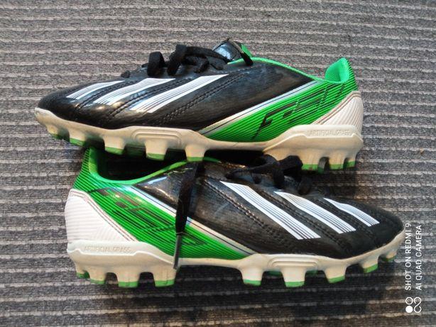 Korki adidas F50 r 33 34 21cm ochraniacze Nike i rękawice Adidas