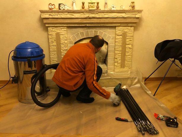 Почистить дымоход печь камин котел сажу трубу