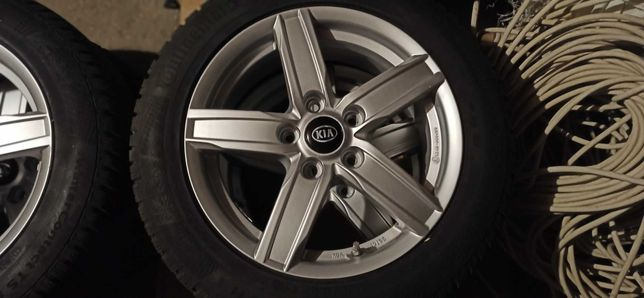 Koła Felgi aluminiowe KIA + opony  continental ts860 205/55/16 91H FR