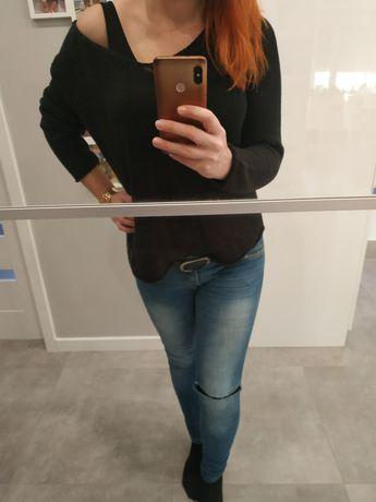 Czarny sweterek H&M rozmiar M oversize