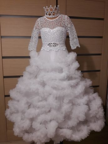 Снежная королева Зима Платье облако