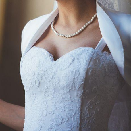 Przepiękna, romantyczna suknia ślubna, księżniczkowa