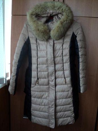 Зимнее женское пальто (холлофайбер)+сумка+рукавички+шапка