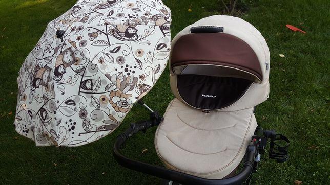 Wózek Rico Brano spacerówka, gondola + parasolka + uchwyt na kubek