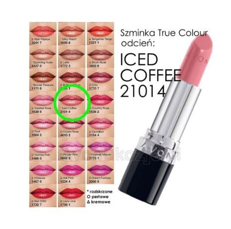 KREMOWA szminka TRUE COLOUR Iced Coffee Avon nowa FOLIA