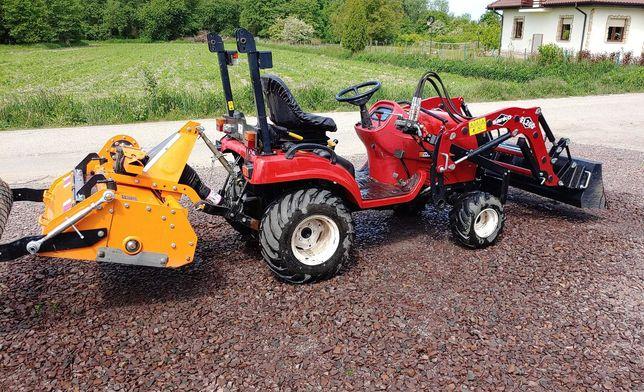 Traktor Shibaura SX24 - hydrostat, glebogryzarka, ładowacz i niwelator