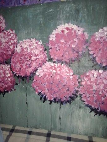 telas pintadas em acrilico.