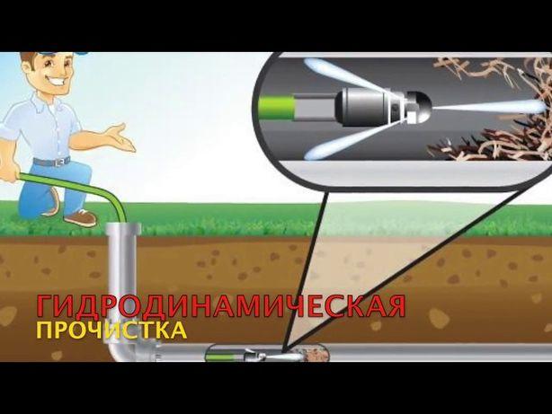 Гидродинамическая прочистка канализации,услуги сантехника