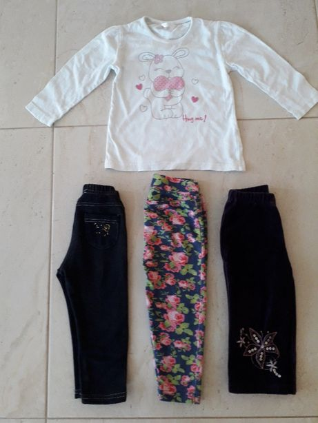 Dresy legginsy leginsy getry+ BLUZECZKA- zestaw
