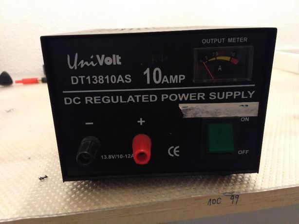 Fonte univolt dt13810as 10AMP DC regulado power supply