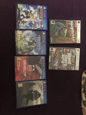 Диски Horizon Driveclub Shadow of the colossus GTA PS4 Xbox360