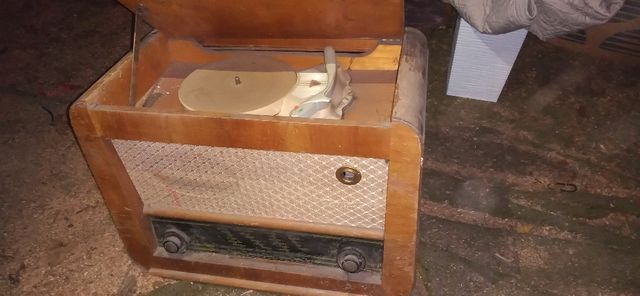 radio lampowe z gramofonem