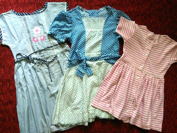 Платье х/б на 4-7лет летнее