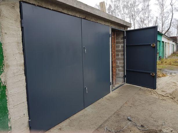 Brama garaż,garażowa SOLIDNA,MOCNA,dwuskrzydłowa pod wymiar