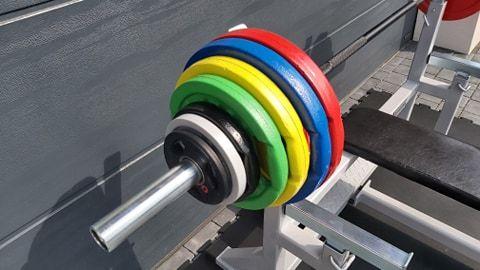 Obciążenie żeliwne olimpijskie fi 51mm KOLOROWE od Haryzma