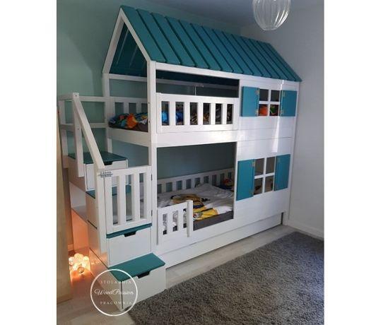 Łóżko piętrowe dla trójki dzieci