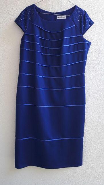 chabrowa/ kobaltowa sukienka