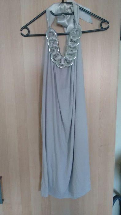 Szara sukienka Gina Tricot z wiązaniem na szyi (S) Gliwice - image 1