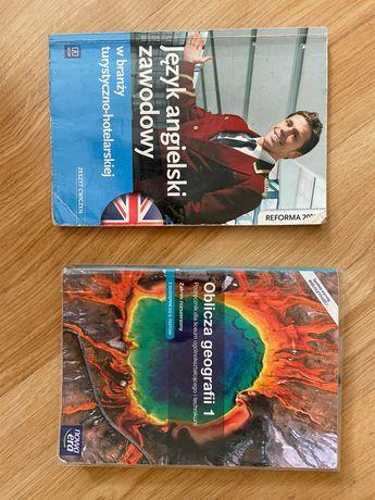 Książki do geografii i angielskiego zawodowego