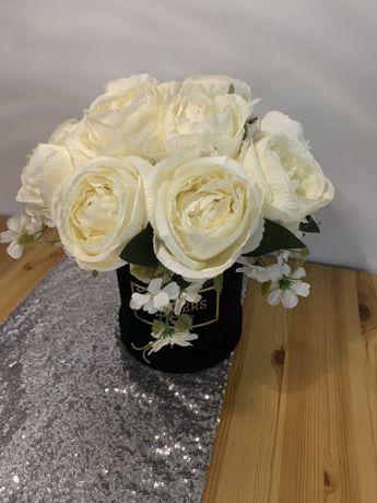 Flower box glamour róże , peonie dzień babcia walentynki