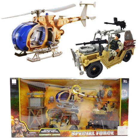 Zestaw wojskowy militarny helikopter
