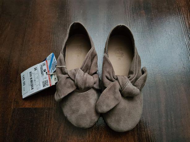 Nowe Balerinki buciki skórzane Zara r. 24