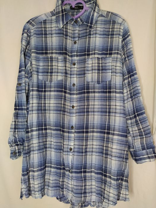 Длинная рубашка в клетку Краматорск - изображение 1