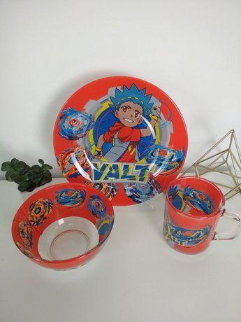 Наборы детской посуды 3 в 1. - с изображением Бейблейд