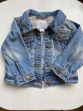 Kurtka jeansowa next 12-18 miesiecy dla dziewczynki