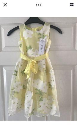 Guess 118 cm 6 lat zolta sukienka