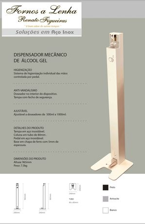 Dispensador de álcool gel