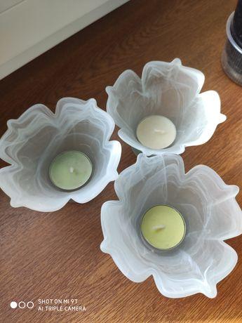 Świeczniki szklane, tulipan