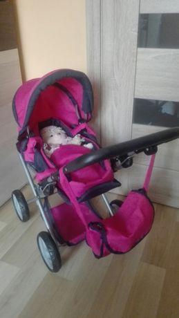 Wielofunkcyjny różowy wózek głęboki, spacerówka, nosidełko jak nowy