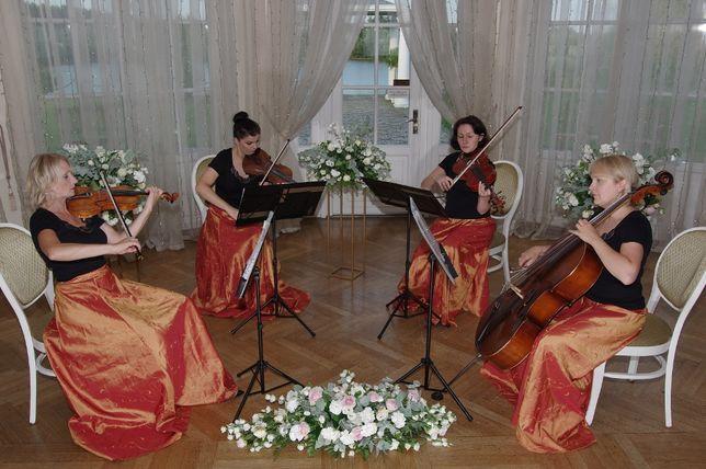 kwartet smyczkowy, ekspresyjna muzyka na idealny ślub