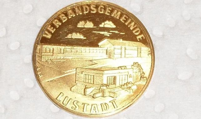 Złota moneta okolicznościowa 23K LUSTADT 1200 JAHRE
