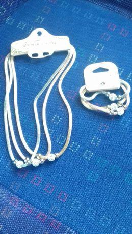 Conjunto colar e pulseira com oferta 2 perfumes