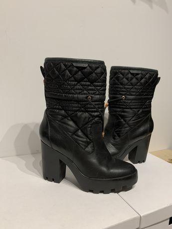 Czarne, skorzane botki Calvin Klein r. 38 - oryginał!