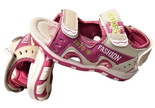Nowe sandały dziewczęce z profilowaną skórzaną wkł. 26,27,28,29,30,31