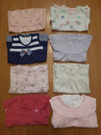 Sukienki i różowy sweterek rozmiar 62