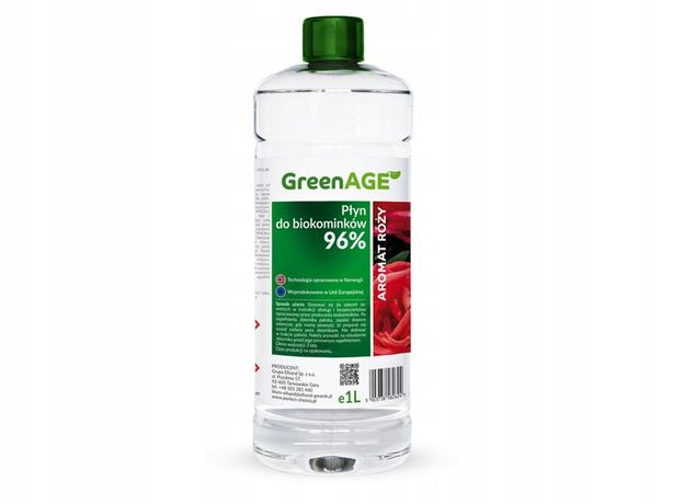 Biopaliwo do biokominka aromat róży 1L