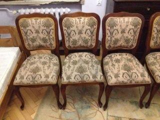 6 krzeseł plus stół