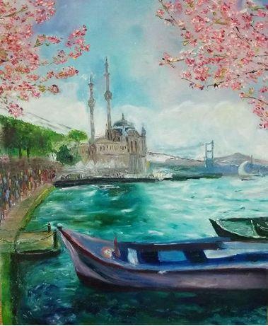 """Картина маслом """"Весняний Стамбул"""""""