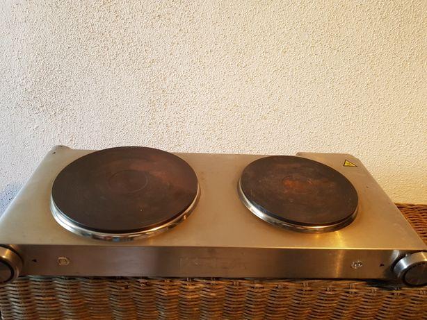 Placa eléctrica com dois queimadores da Krea