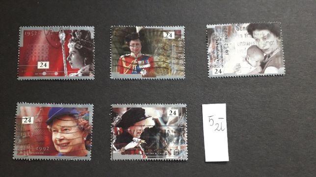 znaczki pocztowe Wielka Brytania, 40 - lecie koronacji Elżbiety II