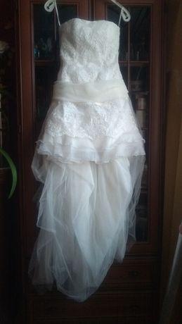 Suknia ślubna krótka S
