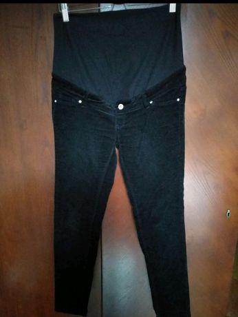 Spodnie ciążowe sztruksowe H&M mama 38